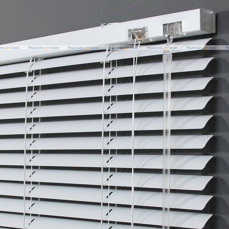 Жалюзи горизонтальные 25 мм, арт. 0225 Белый перфорация от производителя жалюзи и рулонных штор РДО