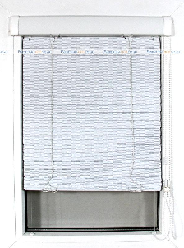 ИзотраХит-2 25 мм цвет 0225 Белый перфорация от производителя жалюзи и рулонных штор РДО