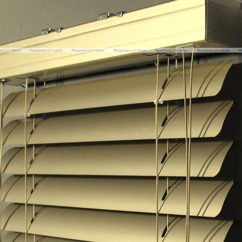 Жалюзи горизонтальные 50 мм, арт. 150 Золотой металлик перфорация от производителя жалюзи и рулонных штор РДО