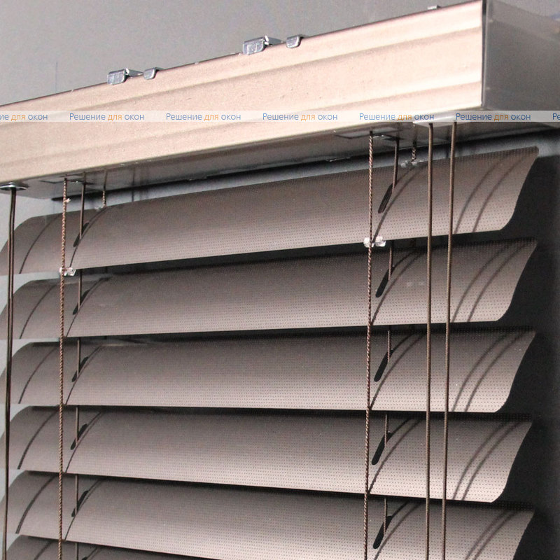 Жалюзи горизонтальные 50 мм, арт. 170 Какао металлик перфорация от производителя жалюзи и рулонных штор РДО