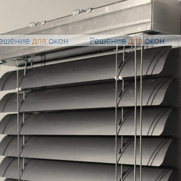 50мм, Жалюзи горизонтальные 50 мм, арт. 200 Темно серый металлик перфорация от производителя жалюзи и рулонных штор РДО