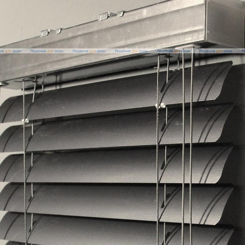 Жалюзи горизонтальные 50 мм, арт. 200 Темно серый металлик перфорация от производителя жалюзи и рулонных штор РДО