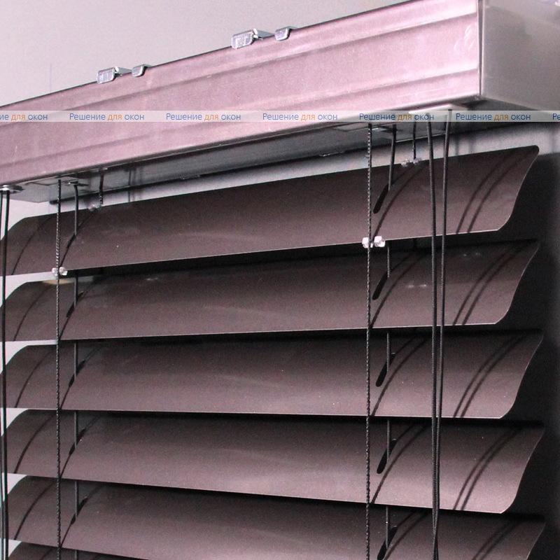 Жалюзи горизонтальные 50 мм, арт. 210 Коричневый металлик от производителя жалюзи и рулонных штор РДО