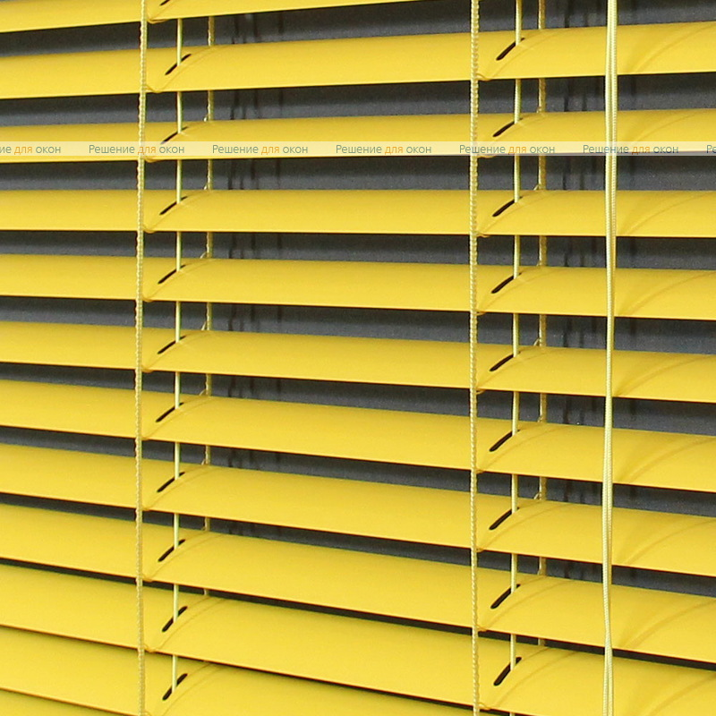 Жалюзи горизонтальные межрамные 25 мм, арт. 3204 Ярко желтый от производителя жалюзи и рулонных штор РДО