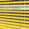 Жалюзи горизонтальные межрамные 25 мм, арт. 3204 Ярко желтый