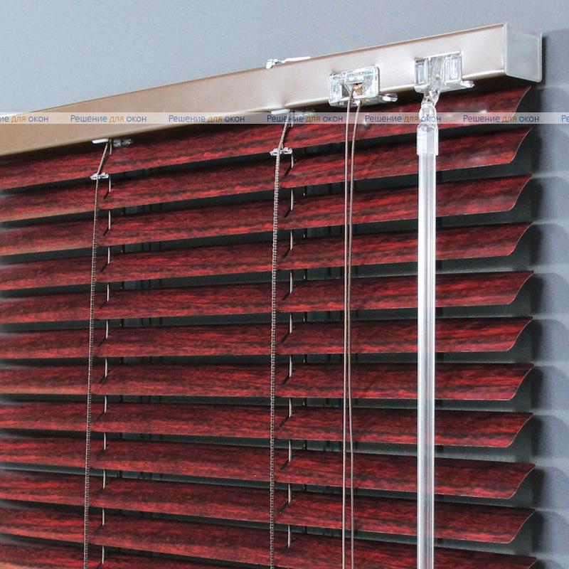 Жалюзи горизонтальные 25 мм, арт. 6016 Тик от производителя жалюзи и рулонных штор РДО