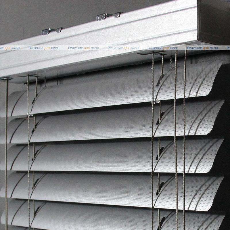 Жалюзи горизонтальные 50 мм, арт.7005 Натуральный алюминий перфорация от производителя жалюзи и рулонных штор РДО
