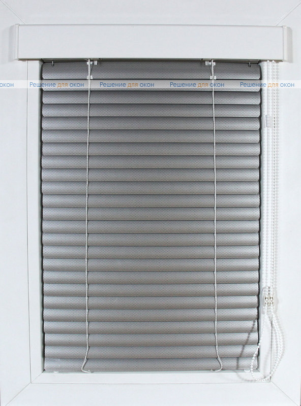 Изолайт 25 мм цвет 7005 Натуральный алюминий перфорация от производителя жалюзи и рулонных штор РДО