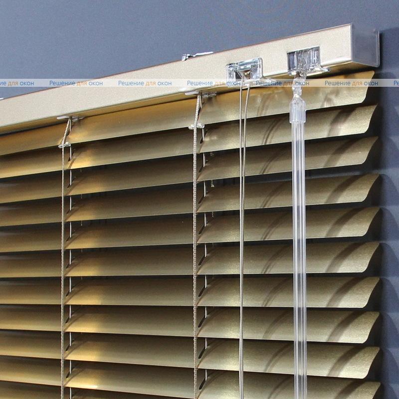 Жалюзи горизонтальные 25 мм, арт. 7122 Желтое золото металлик от производителя жалюзи и рулонных штор РДО