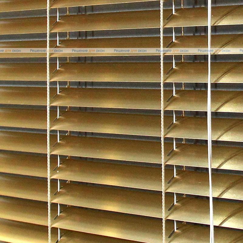 Жалюзи горизонтальные межрамные 25 мм, арт. 7122 Желтое золото металлик от производителя жалюзи и рулонных штор РДО