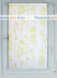 Рулонные шторы КОМПАКТ БАМБУК САТИН 601 зеленый от производителя жалюзи и рулонных штор РДО