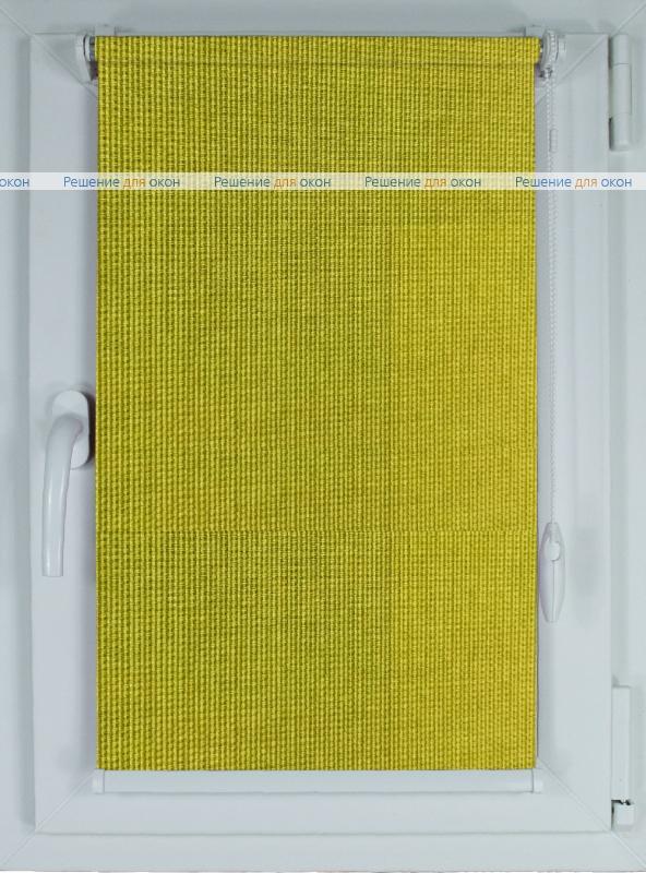 Рулонные шторы КОМПАКТ БОСТОН 4167 желто-зелёный от производителя жалюзи и рулонных штор РДО