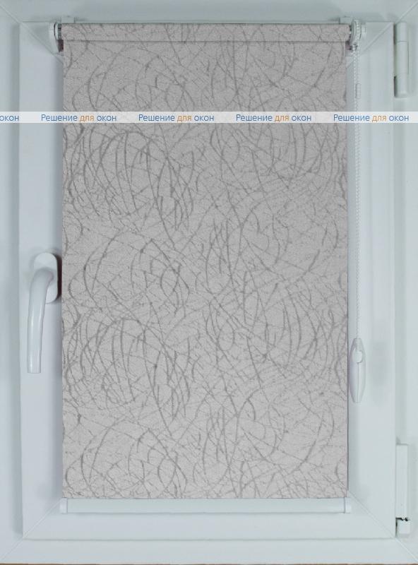 Рулонные шторы КОМПАКТ МИЛАН Б/О 08 серый от производителя жалюзи и рулонных штор РДО