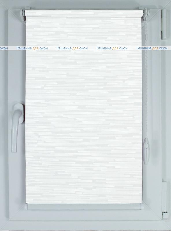 Рулонные шторы КОМПАКТ ПИЕТРА 1 белый от производителя жалюзи и рулонных штор РДО