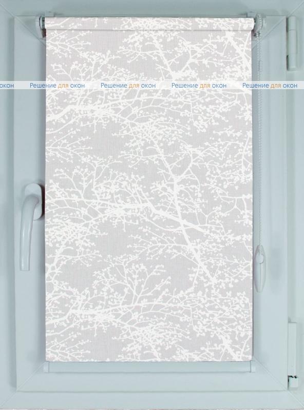 Рулонные шторы КОМПАКТ СПРИНГ САТИН 001 белый от производителя жалюзи и рулонных штор РДО