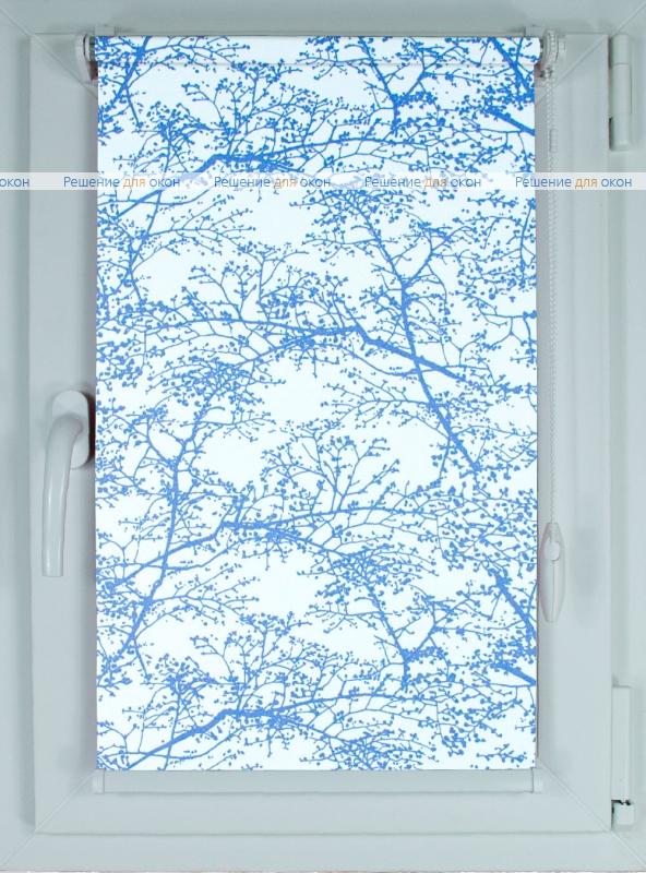 Рулонные шторы КОМПАКТ СПРИНГ САТИН 501 синий от производителя жалюзи и рулонных штор РДО