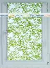 Рулонные шторы КОМПАКТ СПРИНГ САТИН 601 зеленый от производителя жалюзи и рулонных штор РДО