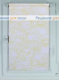 Рулонные шторы КОМПАКТ СПРИНГ САТИН 701 желтный от производителя жалюзи и рулонных штор РДО