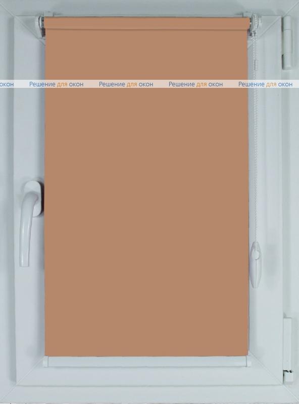 Рулонные шторы КОМПАКТ АЛЛЕГРО 1065 какао от производителя жалюзи и рулонных штор РДО