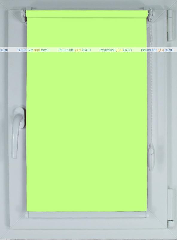 Рулонные шторы КОМПАКТ АЛЛЕГРО 1140 лаймовый от производителя жалюзи и рулонных штор РДО