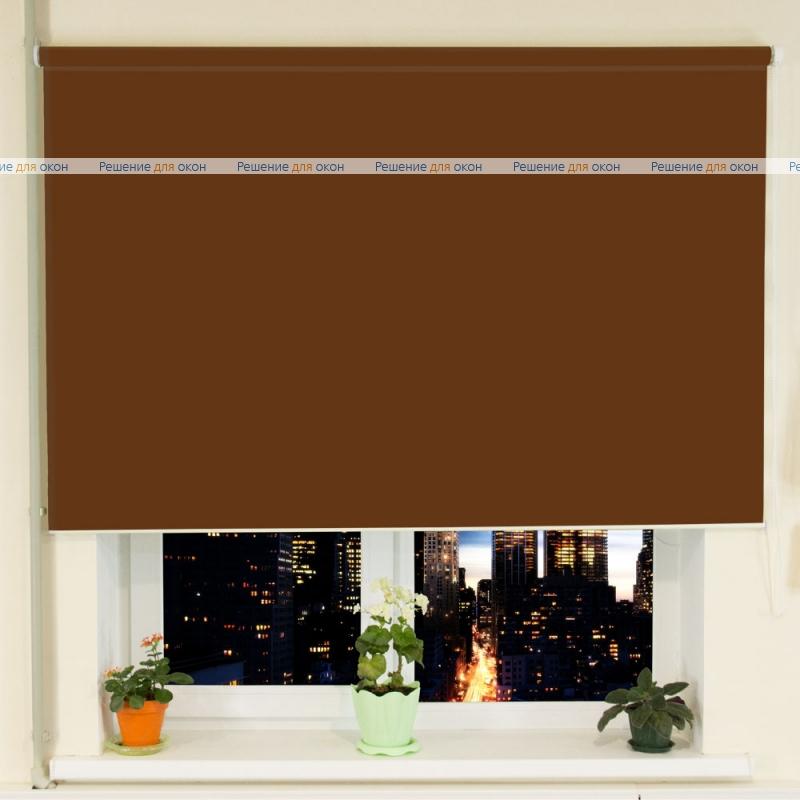 Рулонные шторы РК-30 (35) АЛЛЕГРО 1180 коричневый от производителя жалюзи и рулонных штор РДО