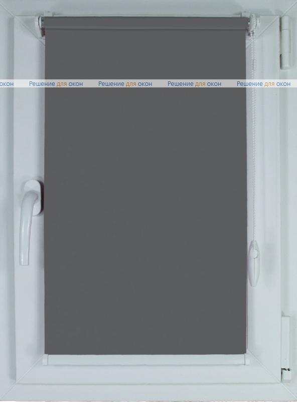 Рулонные шторы КОМПАКТ АЛЛЕГРО Б/О XXL 9119 тёмно-серый от производителя жалюзи и рулонных штор РДО