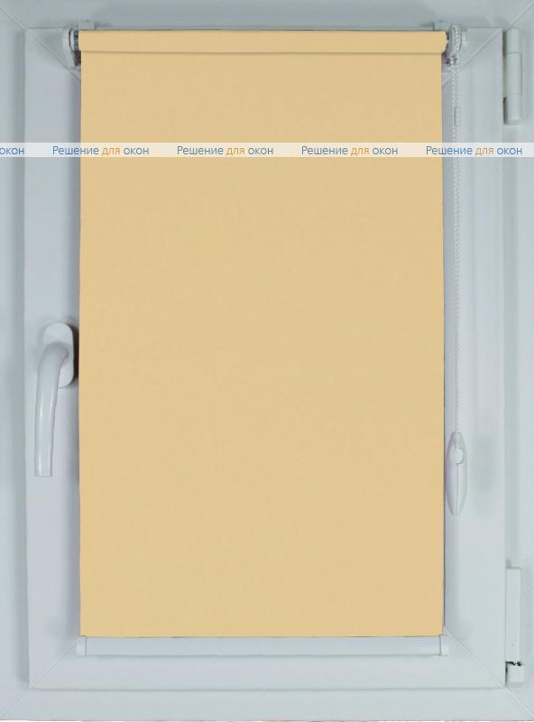 Рулонные шторы КОМПАКТ АЛЛЕГРО ПЕРЛ 0200 бежевый от производителя жалюзи и рулонных штор РДО