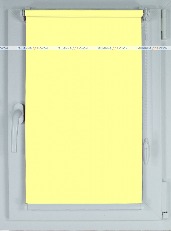 Рулонные шторы КОМПАКТ БЕРЛИН Б/О 057 светло-желтый от производителя жалюзи и рулонных штор РДО