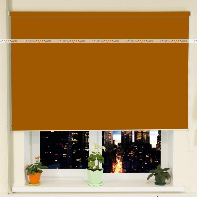 Рулонные шторы РК-30 (35) БЕРЛИН Б/О 212 темно-золотисто-коричневый от производителя жалюзи и рулонных штор РДО