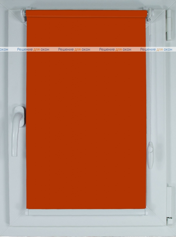 Рулонные шторы КОМПАКТ БЕРЛИН Б/О 213 коричневато-оранжевый от производителя жалюзи и рулонных штор РДО