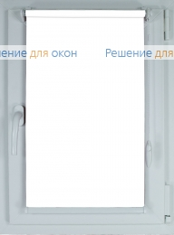 Рулонные шторы КОМПАКТ БЕРЛИН СИЛЬВЕР XL 051 белый от производителя жалюзи и рулонных штор РДО