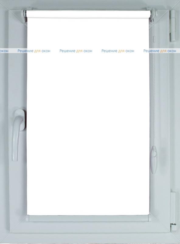 Рулонные шторы КОМПАКТ БЕРЛИН СИЛЬВЕР 051 белый от производителя жалюзи и рулонных штор РДО