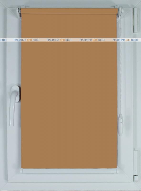 Рулонные шторы КОМПАКТ БЕРЛИН СИЛЬВЕР 053 темно-бежевый от производителя жалюзи и рулонных штор РДО
