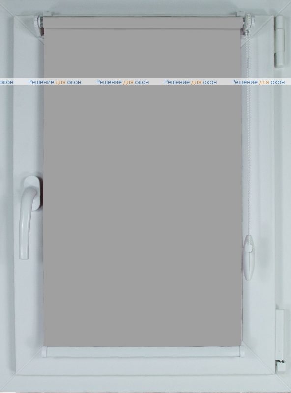 Рулонные шторы КОМПАКТ БЕРЛИН СИЛЬВЕР 054 светло-серый от производителя жалюзи и рулонных штор РДО