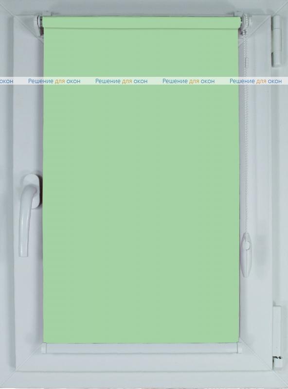 Рулонные шторы КОМПАКТ БЕРЛИН СИЛЬВЕР 055 салатовый от производителя жалюзи и рулонных штор РДО