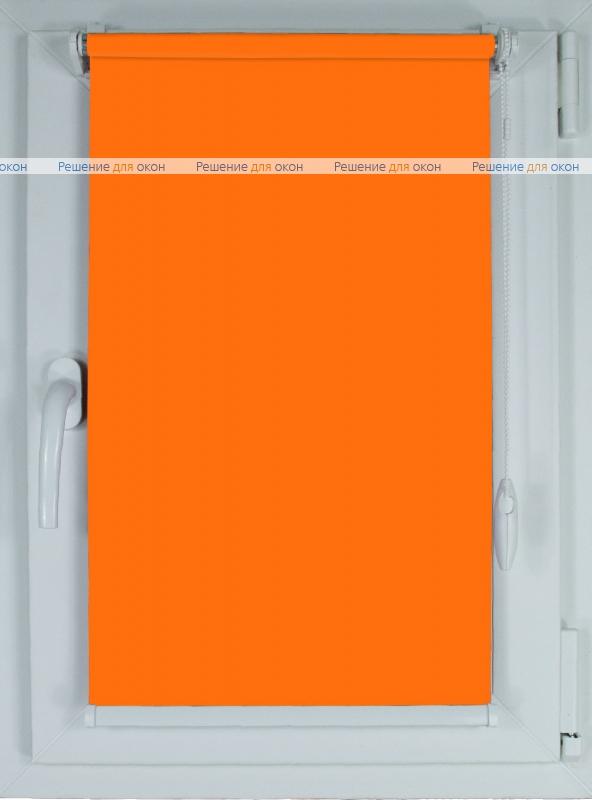 Рулонные шторы КОМПАКТ БЕРЛИН СИЛЬВЕР XL 060 оранжевый от производителя жалюзи и рулонных штор РДО