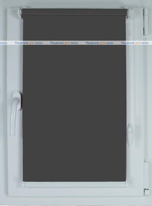 Рулонные шторы КОМПАКТ БЕРЛИН СИЛЬВЕР XL 061 темно-серый от производителя жалюзи и рулонных штор РДО