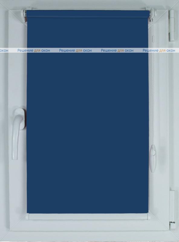 Рулонные шторы КОМПАКТ БЕРЛИН СИЛЬВЕР XL 065 темно-синий от производителя жалюзи и рулонных штор РДО