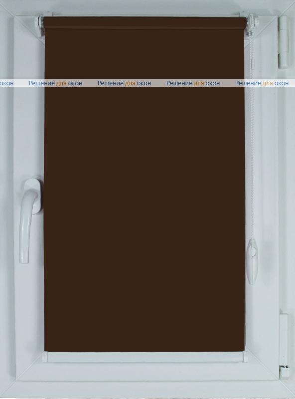 Рулонные шторы КОМПАКТ БЕРЛИН СИЛЬВЕР 066 коричневый от производителя жалюзи и рулонных штор РДО
