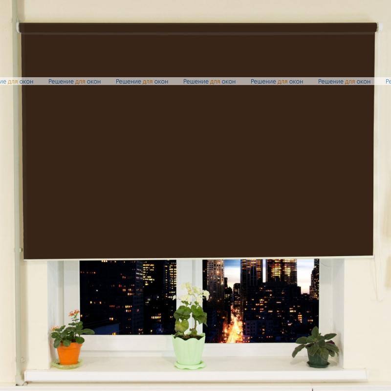 Рулонные шторы РК-30 (35) БЕРЛИН СИЛЬВЕР XL 066 коричневый от производителя жалюзи и рулонных штор РДО