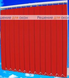 Жалюзи вертикальные БЛИЗЗАРД  051 красный от производителя жалюзи и рулонных штор РДО