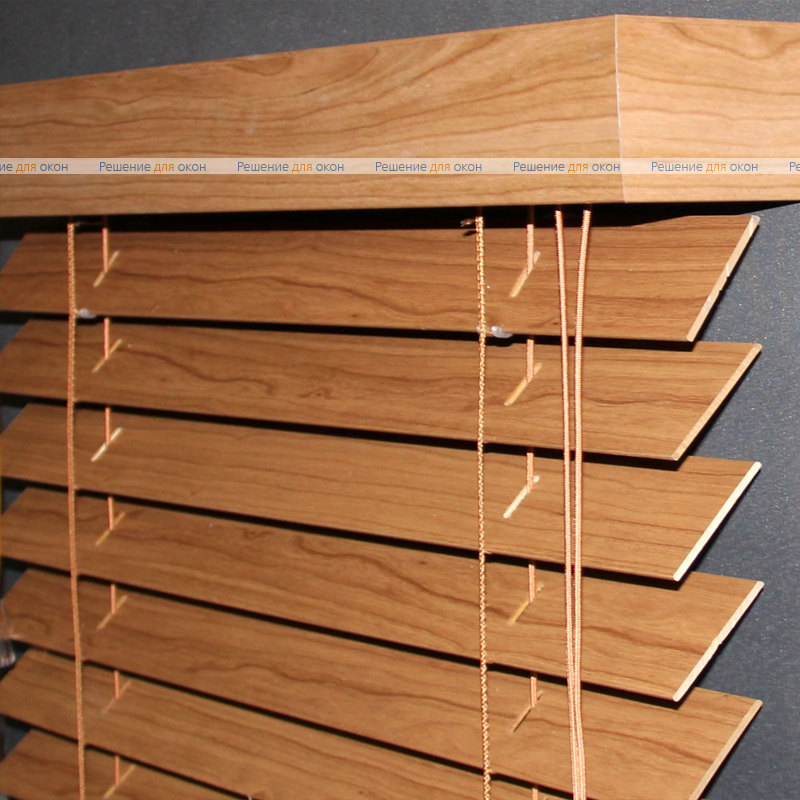 Жалюзи горизонтальные 50 мм, арт. Darc Cherry ламинация от производителя жалюзи и рулонных штор РДО