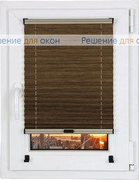 Прямоугольные формы, Шторы плиссе.Джуно 603, грецкий орех от производителя жалюзи и рулонных штор РДО