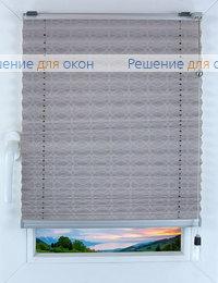 Прямоугольные формы. Веревочное управление., Плиссе Фреско 9181, серебро от производителя жалюзи и рулонных штор РДО