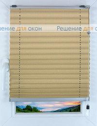 Прямоугольные формы. Веревочное управление., Плиссе Фьюжн Д/О 504, миндаль от производителя жалюзи и рулонных штор РДО