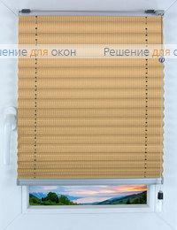Прямоугольные формы. Веревочное управление., Плиссе Фьюжн Д/О 505, какао от производителя жалюзи и рулонных штор РДО