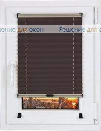 Шторы плиссе.Жемчуг Д/О 703, коричневый от производителя жалюзи и рулонных штор РДО