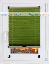 Шторы плиссе.Джуно перл 4139, зеленый от производителя жалюзи и рулонных штор РДО