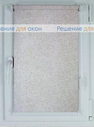 Рулонные шторы КОМПАКТ ЛИНО 9165 серый от производителя жалюзи и рулонных штор РДО