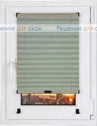Шторы плиссе.Краш металлик 10883, нефрит от производителя жалюзи и рулонных штор РДО